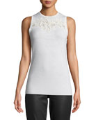 Elie Tahari Gharett Open-Front Embroidered Sweater and Matching