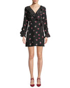 Sharna Floral-Print Silk Crepe Wrap Dress