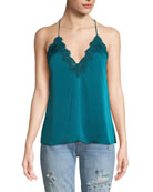 The Everly Silk Camisole w/ Lace