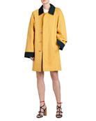 Waxed Cotton Gabardine Coat