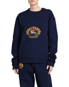 Copes Crewneck Logo Crest Sweatshirt, Dark Blue