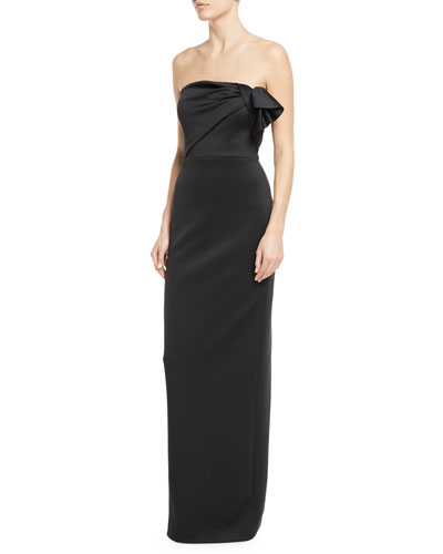 Divina Strapless Column Gown
