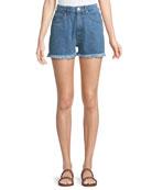 Halsy High-Rise Cutoff Denim Shorts