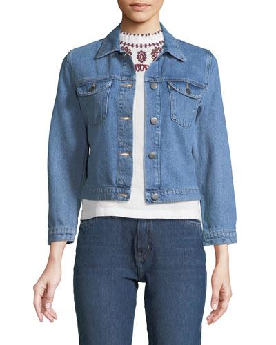 Sunland Button-Down Denim Jacket