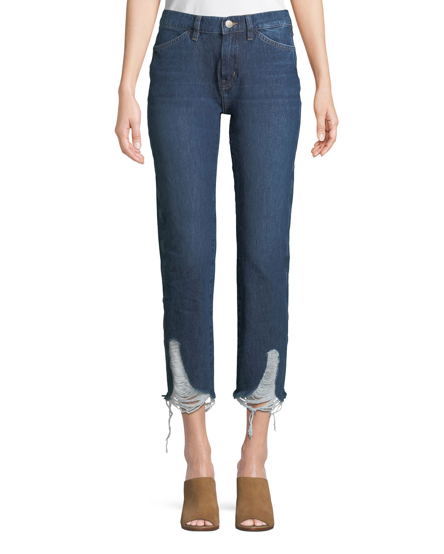 Cult Mid-Rise Four-Pocket Straight-Leg Jeans