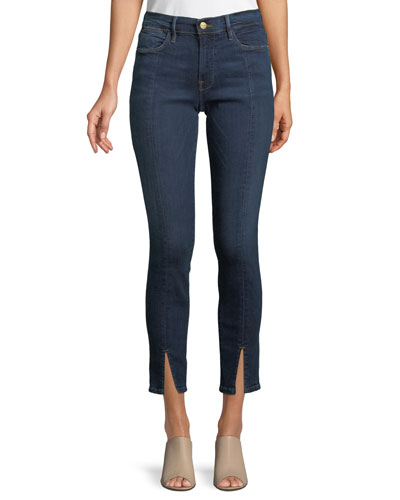 Le High Split-Front Skinny Jeans