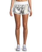Fly-By Metallic Printed Running Shorts