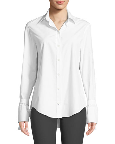 Ring-Cuff Poplin Shirt