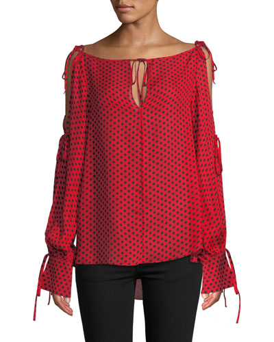 43d79009fa76d5 Milly Silk Blouse Top | Neiman Marcus