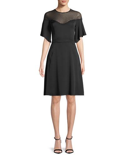 Jan Semisheer-Yoke Dress