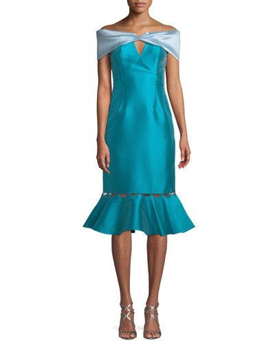 Gulmek Cuffed Bustier Dress Taffeta