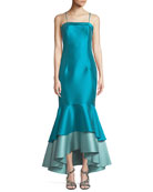 Gunaydin Tiered Taffeta Mermaid Gown