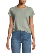 Crewneck Short-Sleeve Cotton T-Shirt