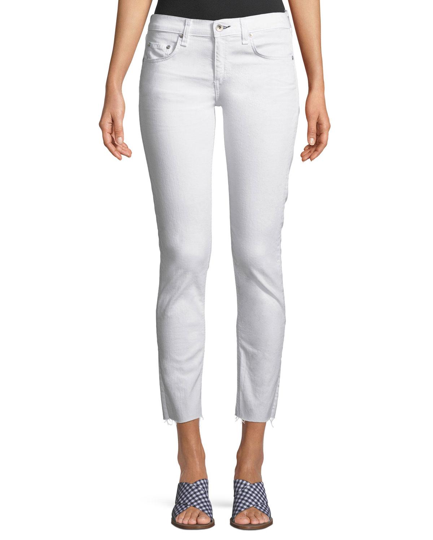 Dre Mid-Rise Cropped Skinny-Leg Stretch-Twill Jeans