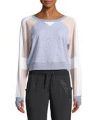 Flashback Colorblock Cropped Sweatshirt