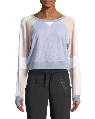 Flashback Colorblock Cropped Sweatshirt
