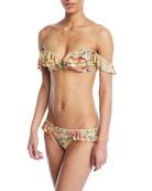 Melody Off-the-Shoulder Frill Bikini Swim Set