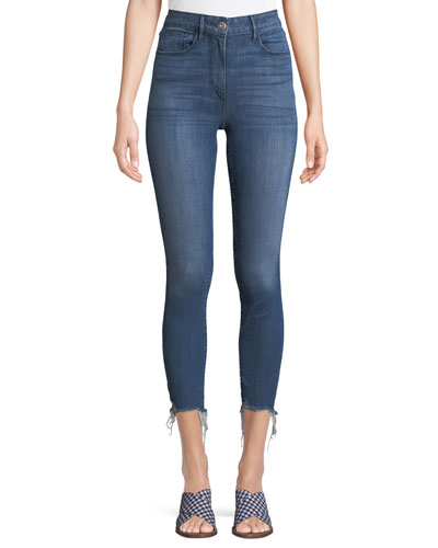 W3 High-Rise Skinny-Leg Crop Jeans