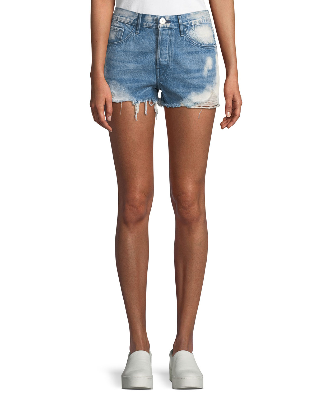 W2 Mason Distressed Denim Shorts