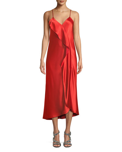 Natalia Sleeveless Ruffle Midi Dress