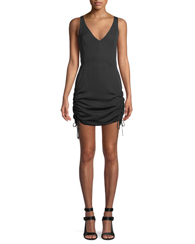 Silvie Ruched Sleeveless Mini Dress
