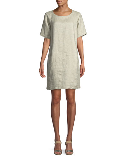 Twinkle Organic Linen Shift Dress, Petite