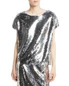 Gozleme Short-Sleeve Sequin Top