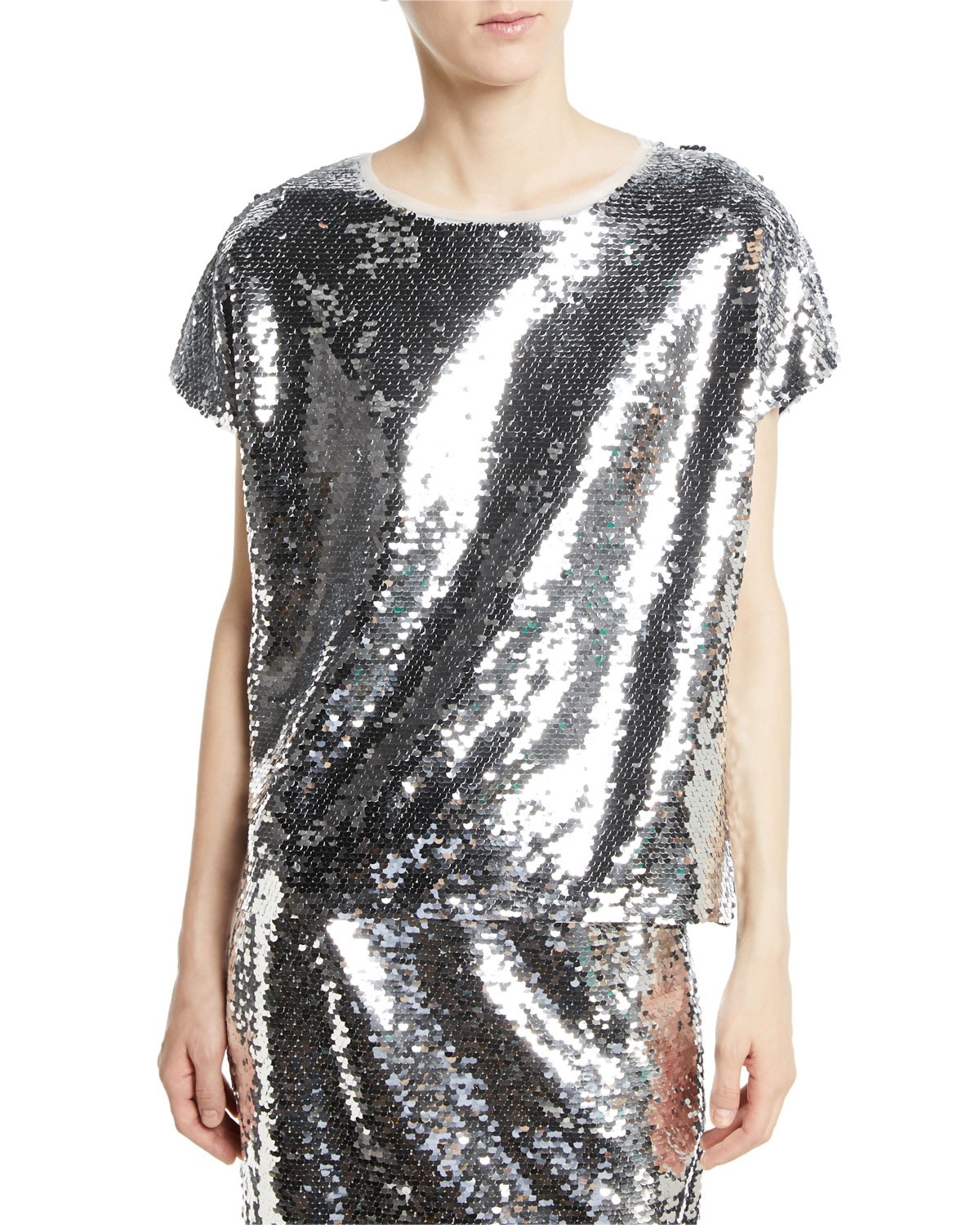 Gozleme Short-Sleeve Sequin Top