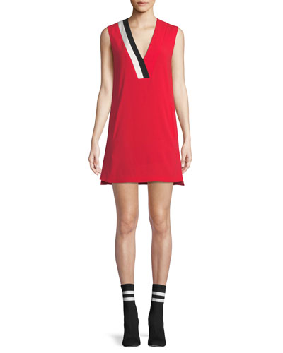 Lodwick Sleeveless V-Neck Shift Dress
