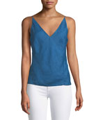 Lucy V-Neck Linen Camisole