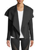 Chicane Open-Front Jacket with Ribbed Sleeves