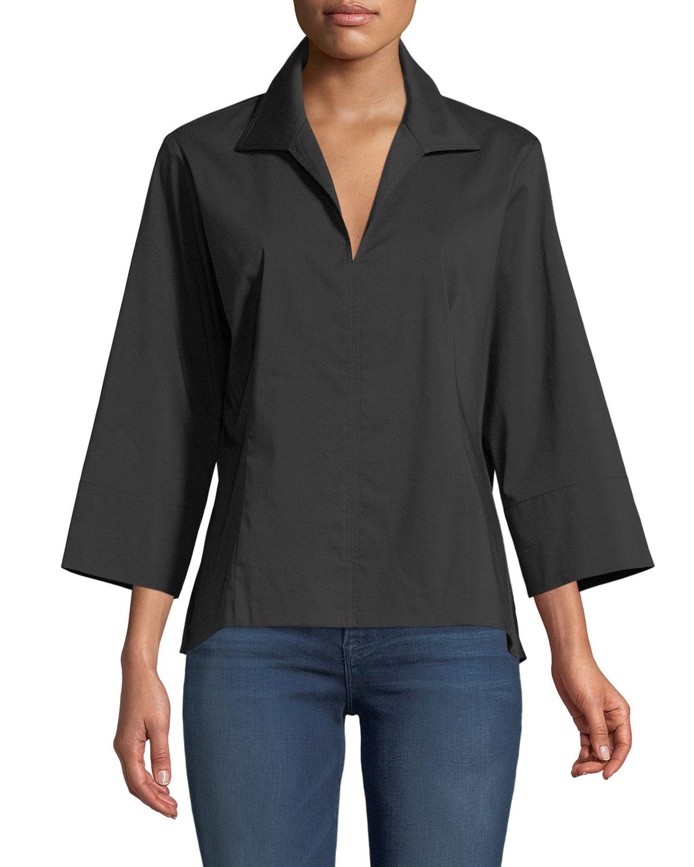 3/4-Sleeve Swing Shirt