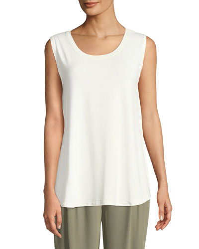 Elisa Scoop-Neck Jersey Tank