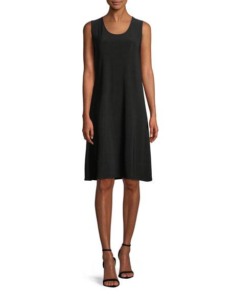 Caroline Rose Plus Size Scoop-Neck Stretch Knit Dress