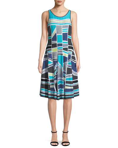Going Places Sleeveless Twirl Dress, Petite
