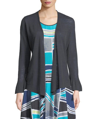 4-Way Ruffle-Cuff Cardigan, Plus Size