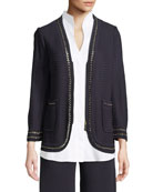 Misook Chain-Detail Knit Jacket and Matching Items &