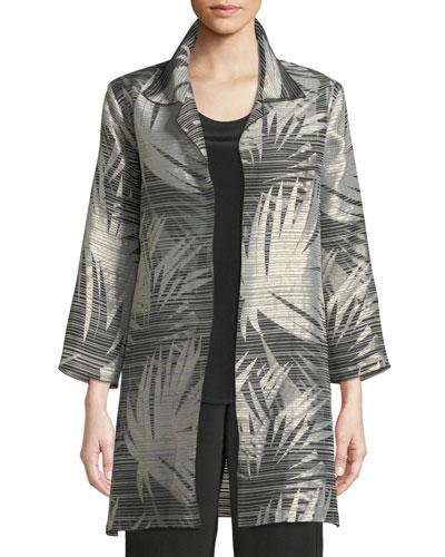 Petite Shimmering Palms Shirt Jacket