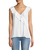 April Sleeveless Ruffle Top