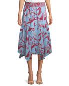 Sabine Parrot Tulip Printed Midi Skirt