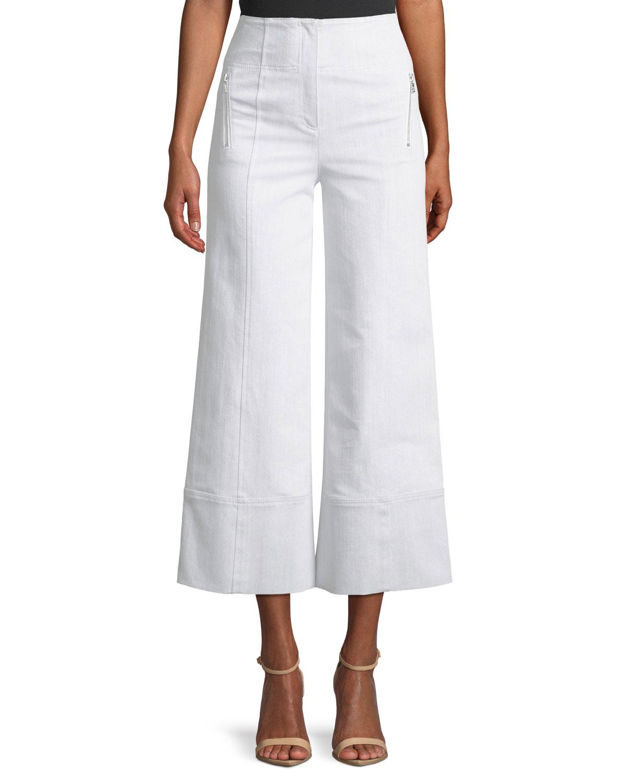 Marla High-Waist Wide-Leg Denim Pants