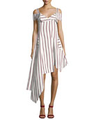 Daniele Striped Asymmetrical Dress