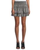 Annabelle Printed Silk Mini Skirt