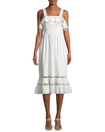 Valery Sleeveless Ruffle Cotton Dress