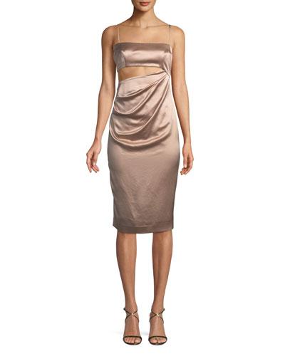 Selina Cutout Satin Dress