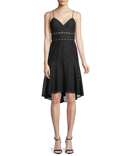 Ariana Lace High-Low Dress
