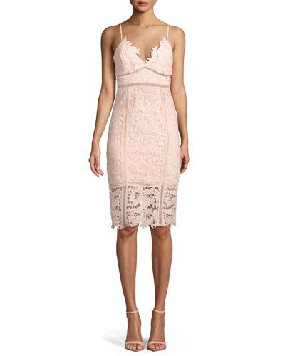 Botanica Sleeveless Lace Sheath Dress