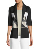 Geometric Half-Sleeve Jacket