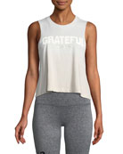 Grateful Cropped Statement Muscle Tank