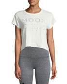 Moon Child Short-Sleeve Crop Top